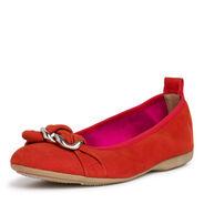Ballerine en cuir - rouge, RED, hi-res