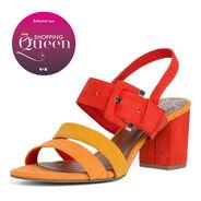 Sandale à talon - orange, FIRE COMB, hi-res