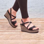 Sandalette - schwarz, BLACK, hi-res