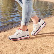 Sneaker - white, WHITE/NAVY COM, hi-res