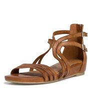 Sandale en cuir - marron, NUT, hi-res