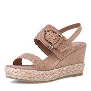 Heeled sandal - beige, NUDE, hi-res
