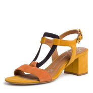 Heeled sandal - yellow, SAFFRON COMB, hi-res