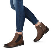 Leather Bootie - brown, MUSCAT ANTIC, hi-res