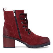 Leather Bootie - red, RED, hi-res