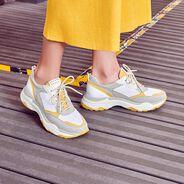 Sneaker - grau, GREY/ SAFFRON, hi-res