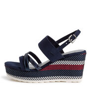 Heeled sandal - blue, NAVY COMB, hi-res
