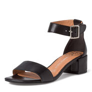 Leather Heeled sandal - black, BLACK, hi-res