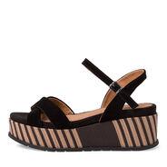 Heeled sandal - black, BLACK, hi-res