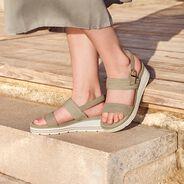 Heeled sandal - хаки, CACTUS, hi-res
