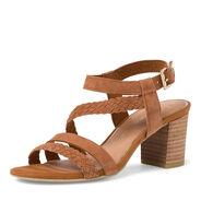 Heeled sandal - brown, COGNAC, hi-res