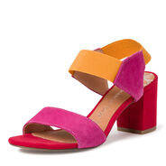 Leather Heeled sandal - rose, PINK COMB, hi-res