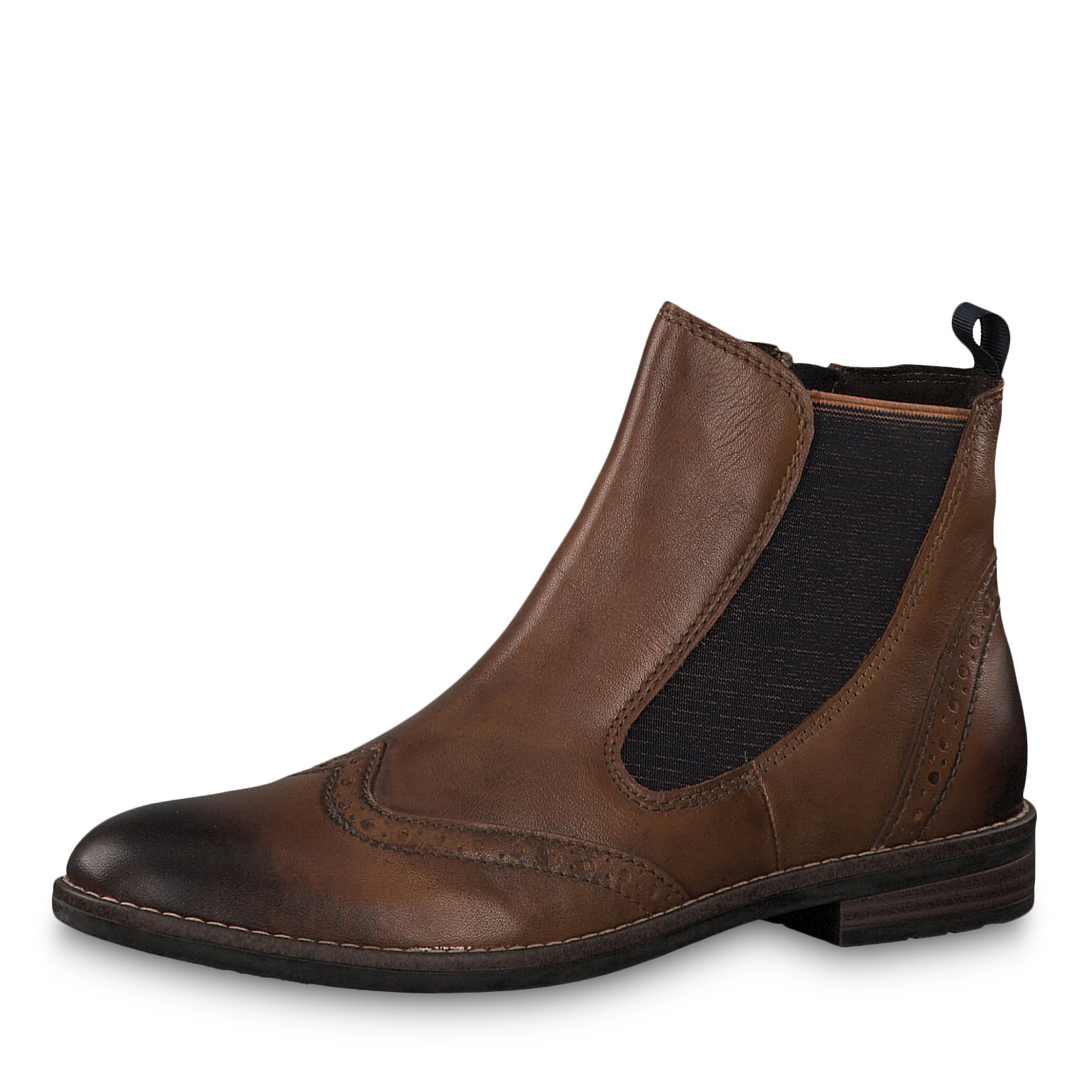 Leather Bootie - brown
