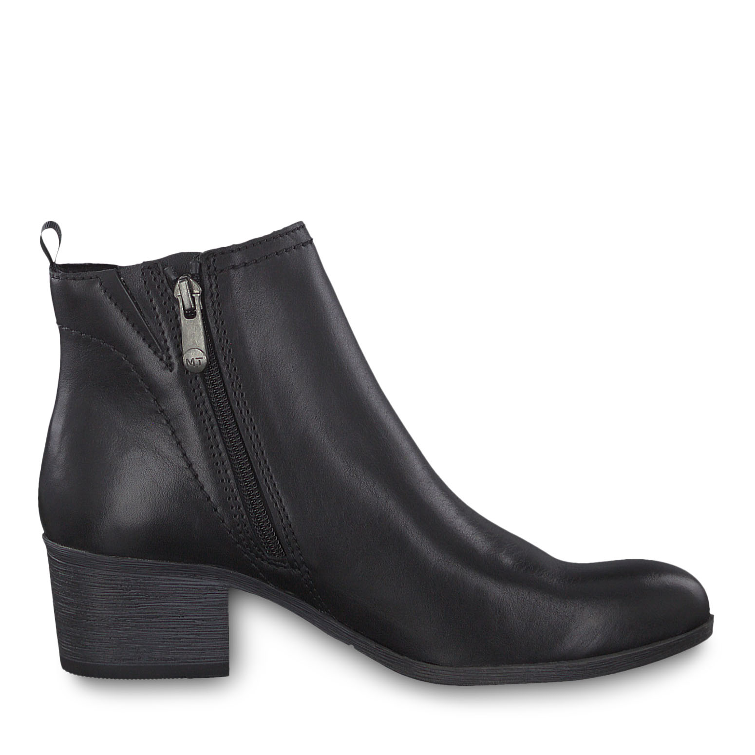 Bottine en cuir - noir, BLACK ANTIC, hi-res