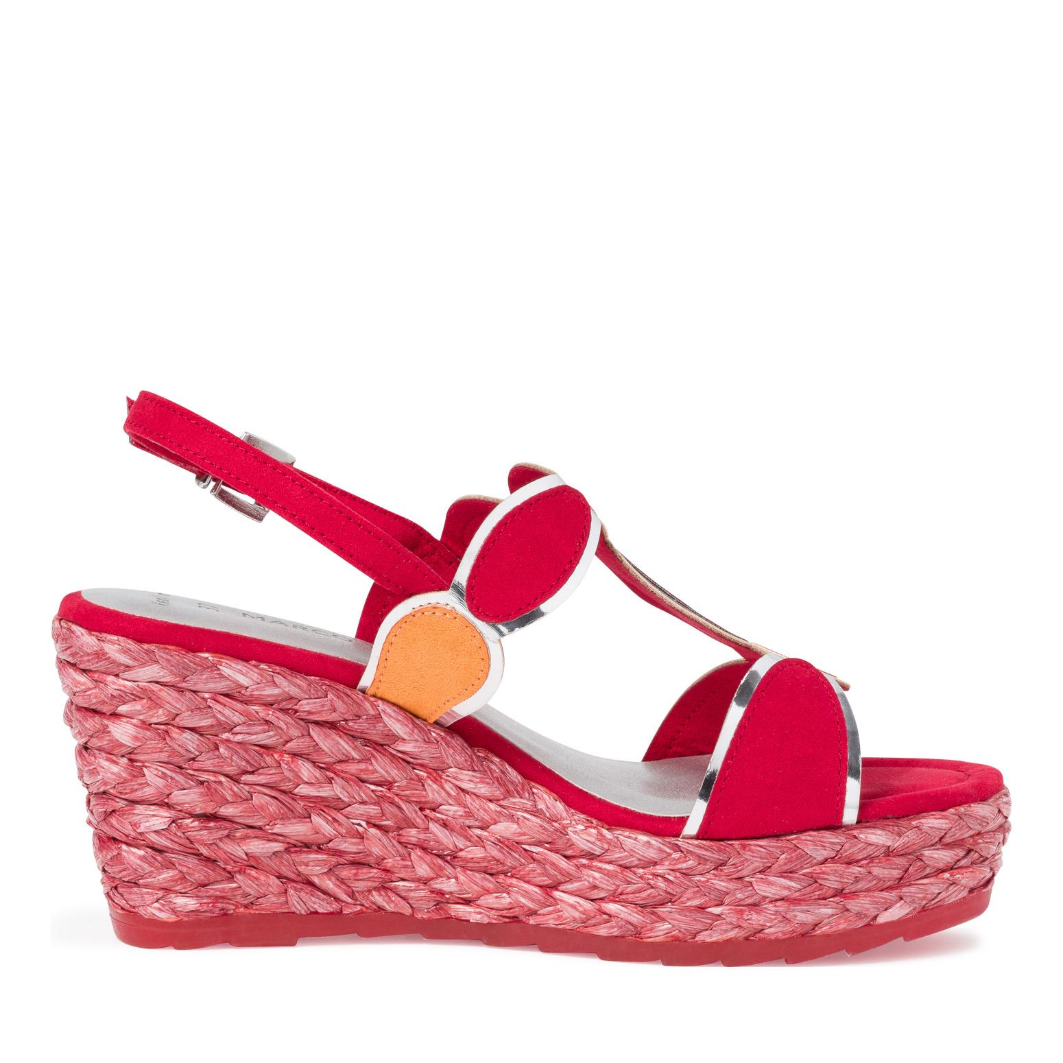 Marco Tozzi 2-28373-34 Dames Romains Sandales Sandale Escarpins Red Comb Rouge