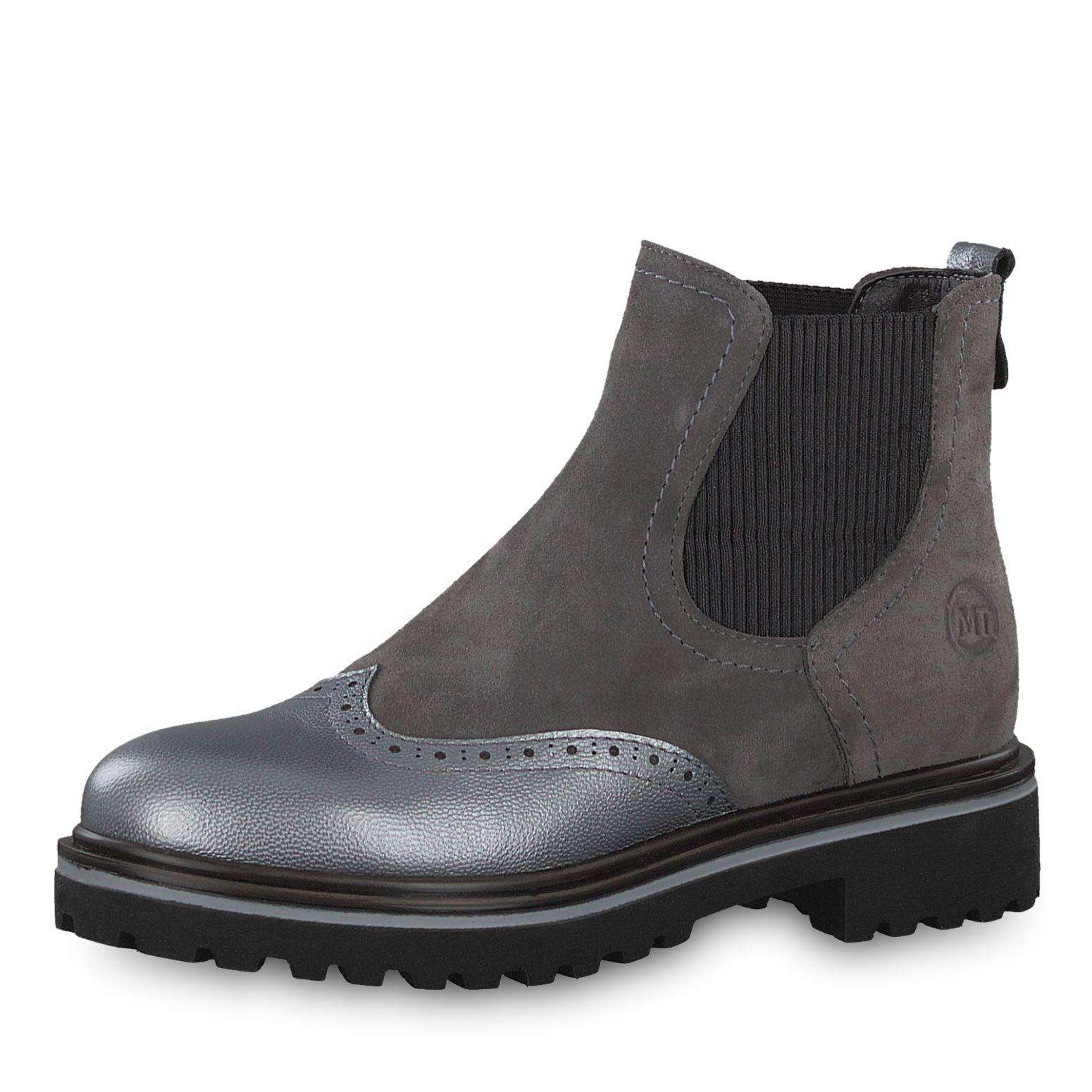 Damen Stiefeletten Schuhe Chelsea Stretch Boots Grau 37 xG3Nm