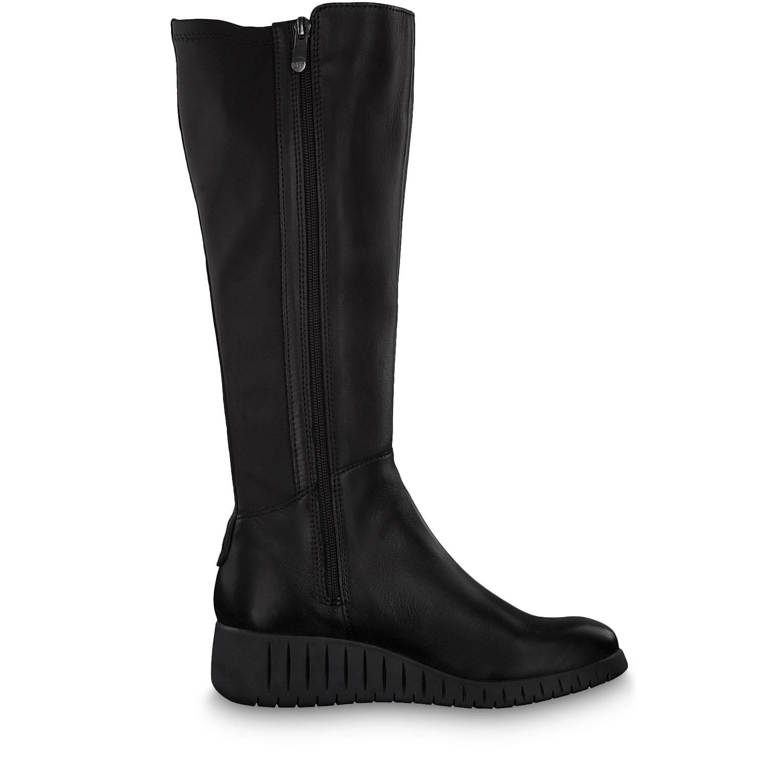 Leather Boots - black, BLACK ANT.COMB, hi-res