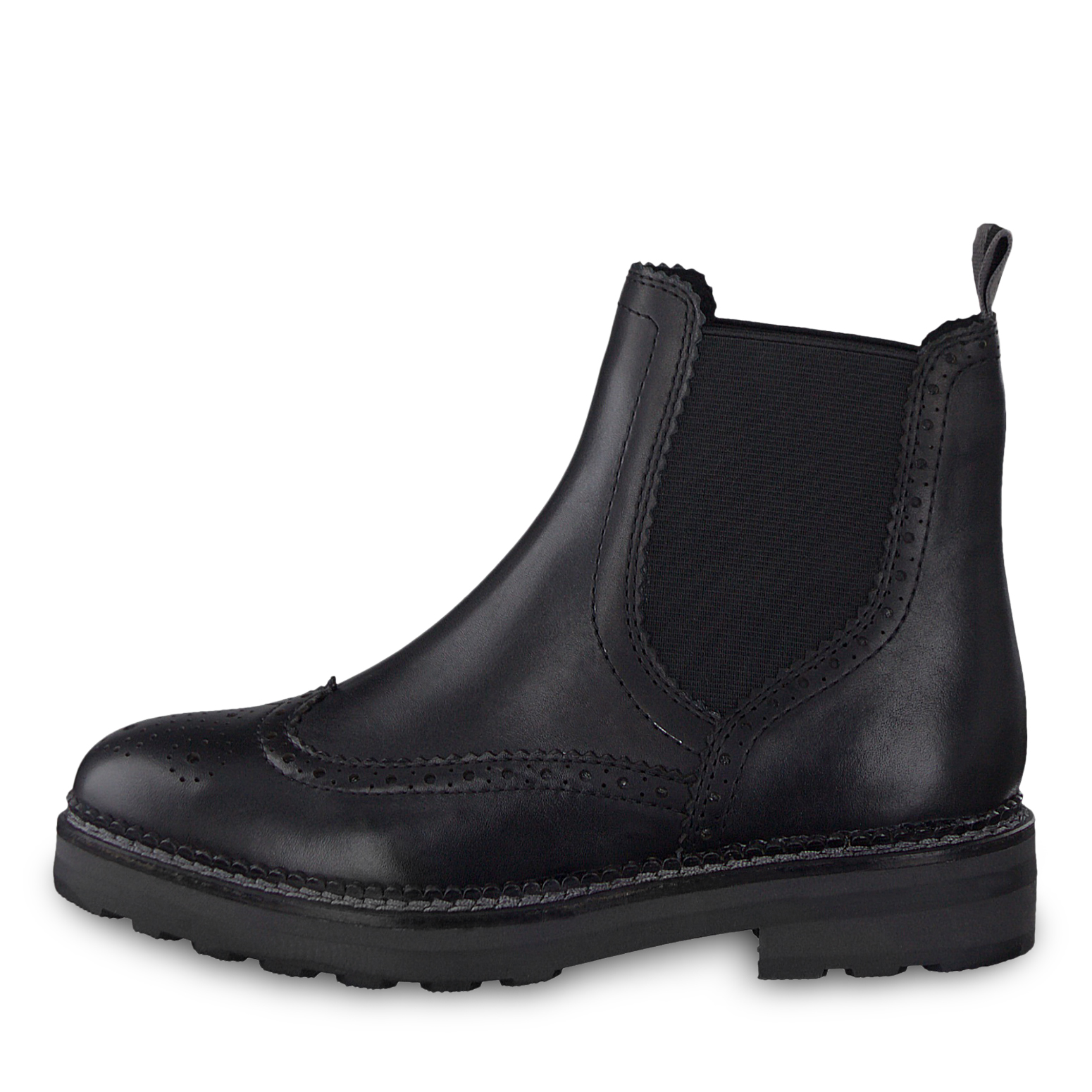 Leather Chelsea boot - black, BLACK ANT.COMB, hi-res