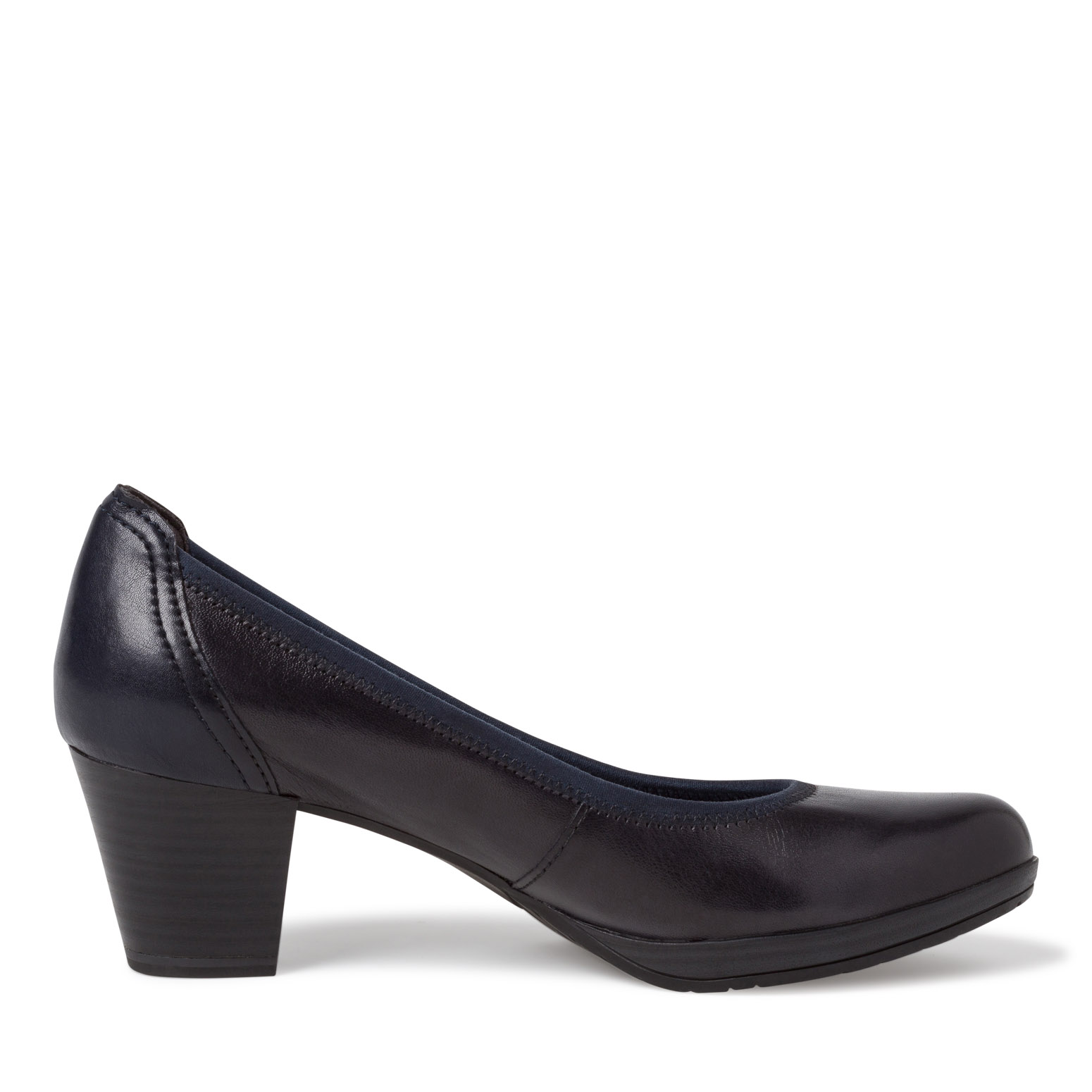 Leather Pumps - blue, NAVY NAPPA, hi-res