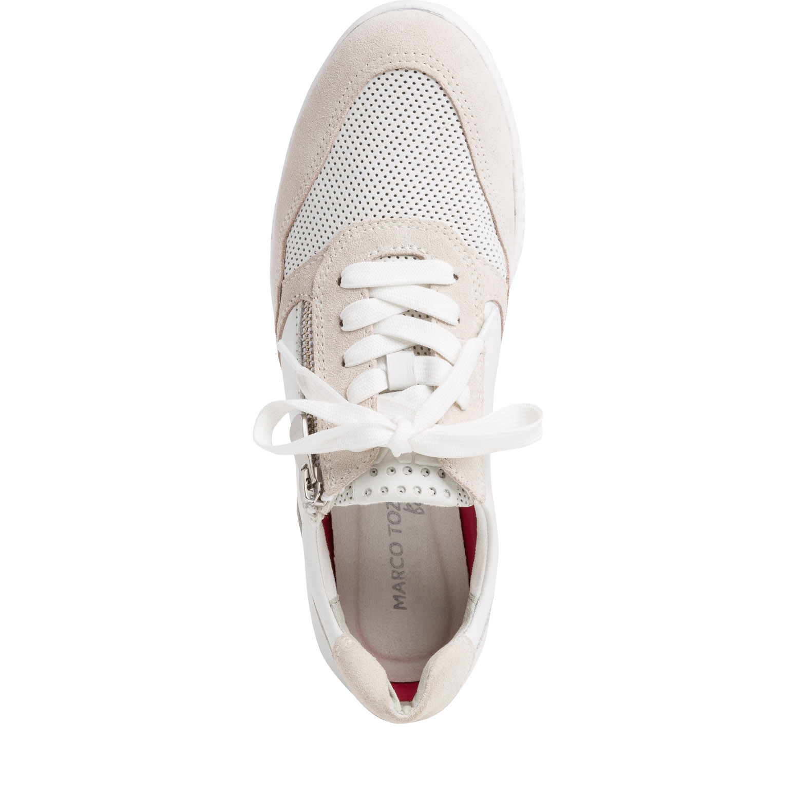 Leather Sneaker - white, WHITE COMB, hi-res