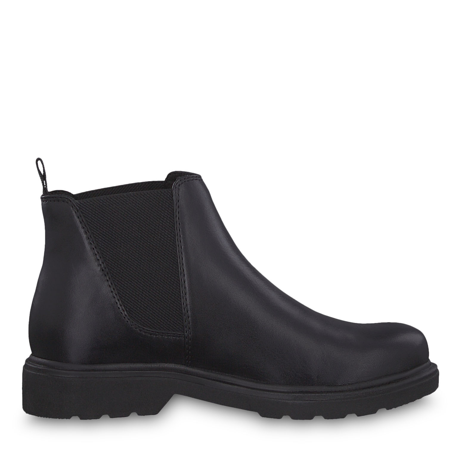 Leder Chelsea Boot - schwarz, BLACK ANTIC, hi-res