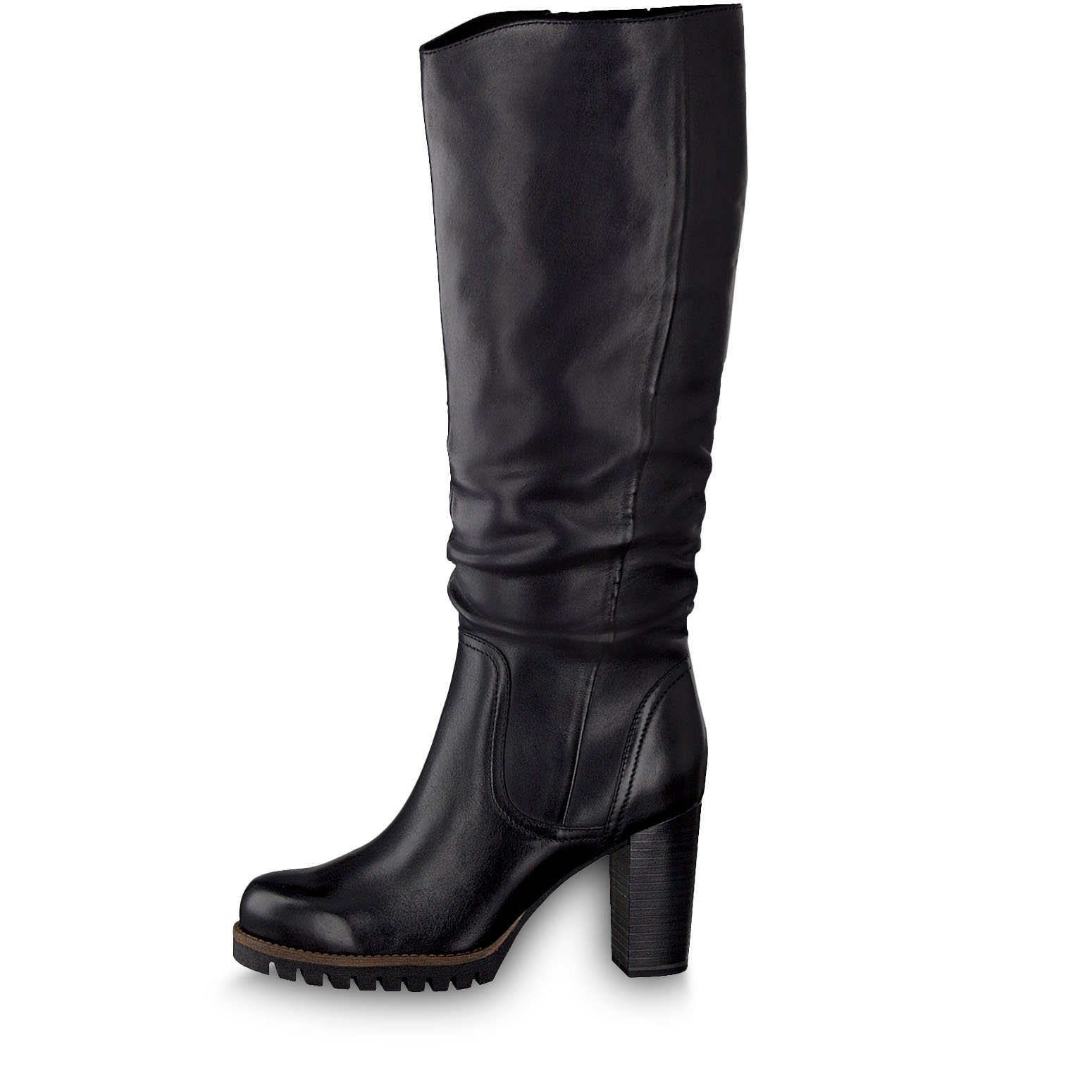 Leather Boots - black, BLACK ANTIC, hi-res
