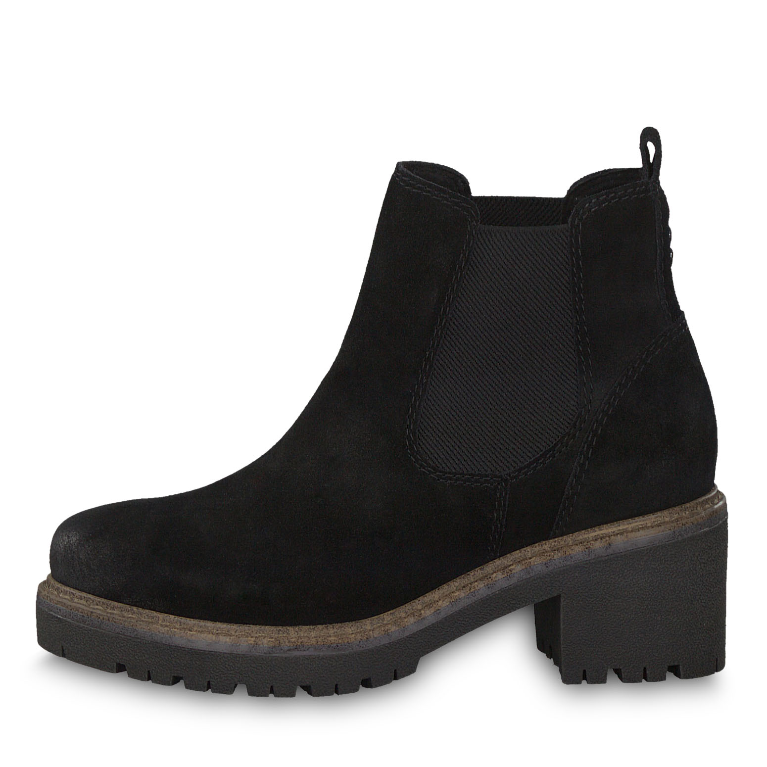 Leather Chelsea boot - black, BLACK COMB, hi-res