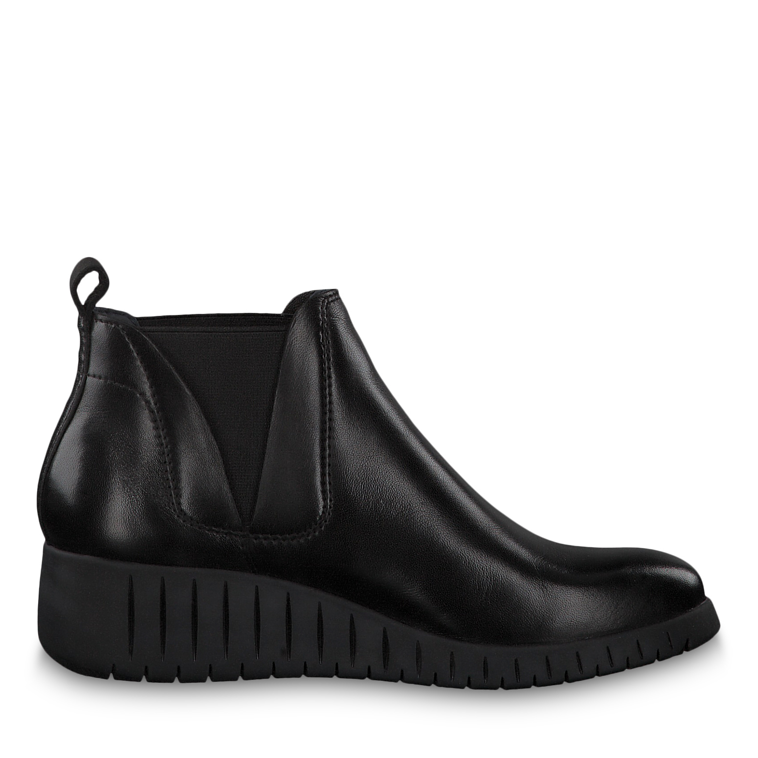 Leather Chelsea boot - black, BLACK ANTIC, hi-res