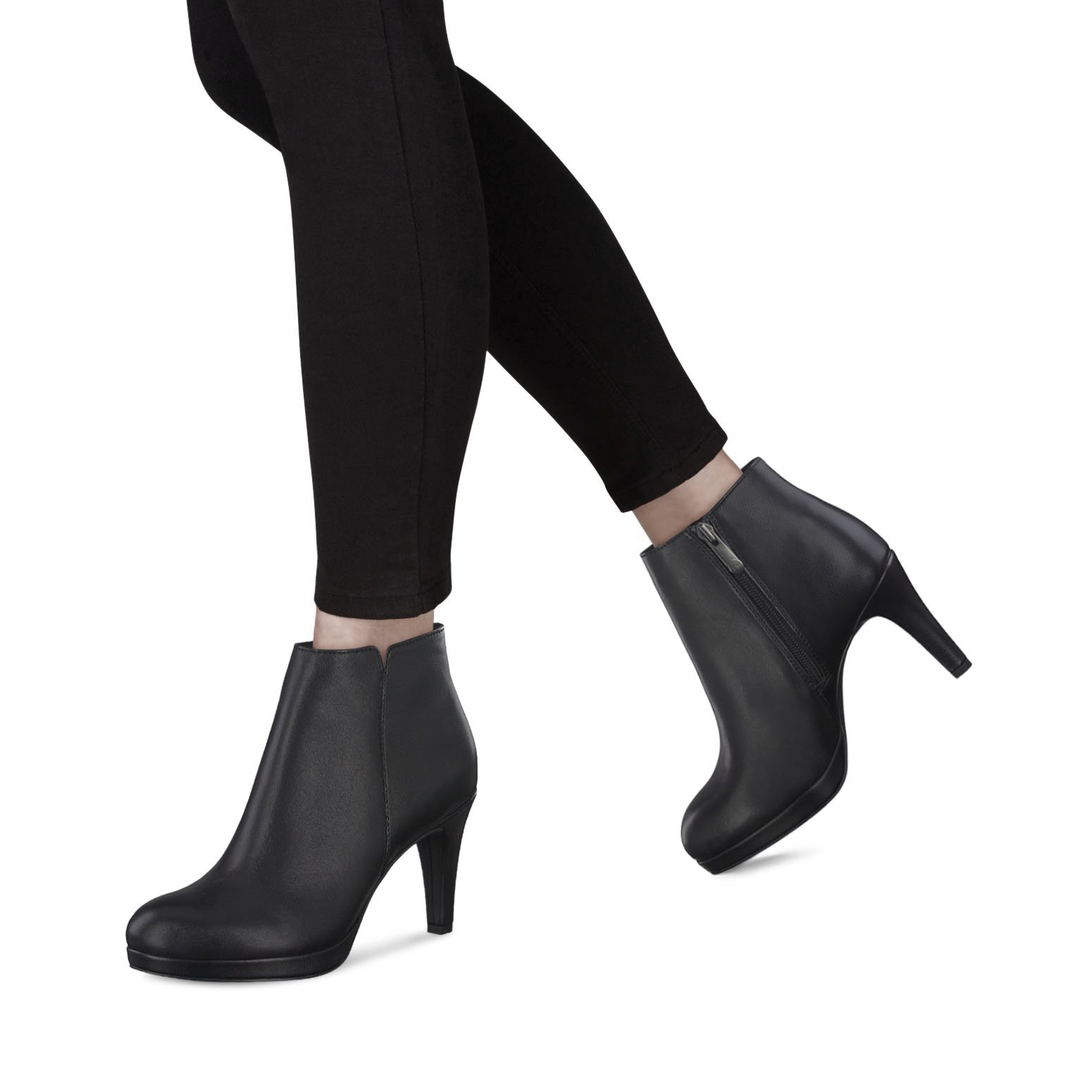 Lederstiefelette - schwarz, BLACK ANTIC, hi-res